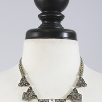 zig zag art deco necklace