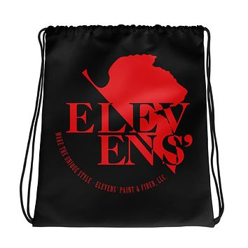 NERV Logo Black Drawstring Bag