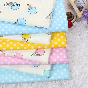 TIANXINYUE Ice cream fabric 95% Cotton Fabric quilting Baby Cloth Kids bedding patchwork tissue Textile Sewing fabric