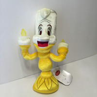 disney happy tea time beauty and the beast lumiere plush new with tags