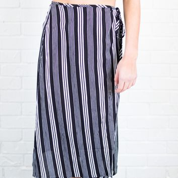 Blair Wrap Midi Skirt