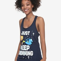 Disney Finding Nemo Just Keep Swimming Girls Tank Top