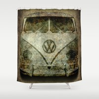 Vintage VW Bus - the choice of a generation and then some. Shower Curtain by BruceStanfieldArtist.DarkSide | Society6