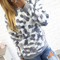 Stone Pattern Printed Long Sleeve Fleece Sweatshirts