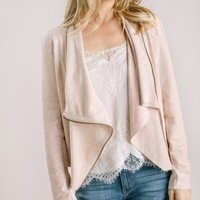 Roxy Blush Faux Suede Jacket