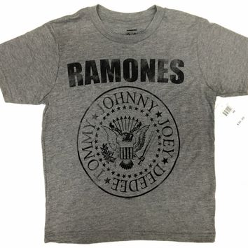 Boy's Youth RAMONES SEAL LOGO T-Shirt NWT 100% Authentic