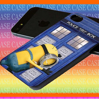 minion despicable me doctor who tardis for iphone case, Samsung Galaxy Case, iPod Case, HTC Case, Blackberry Case, Sony Case