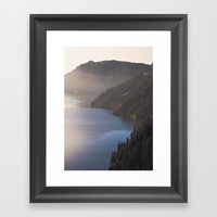 First Light at the Lake Framed Art Print by Cascadia
