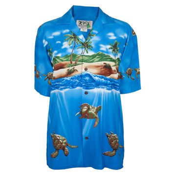 Turtles on the Beach Hawaiian Shirt