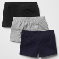 Gap Girls Solid Knit Shorts 3 Pack