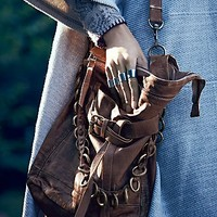Free People Womens Enfield Leather Hobo