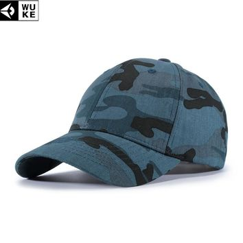 Trendy Winter Jacket WUKE New Arrival Camo Baseball Caps For Men High Quality Snapback Hats Army Style Dad Hats  Adjustable Baseball Caps AT_92_12