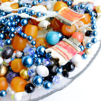 Huge Vintage Bead Lot - Lucite Beads, Faux Pearls, Glass Crystals for Jewelry Making & Art / Over Two Pounds of Beading Supplies
