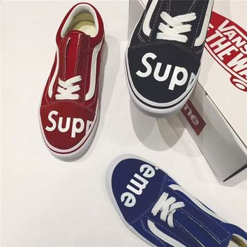 Supreme X Vans Classic Aesthetics Running Shoes 36 44