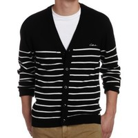 C1RCA Men's Remix Cardigan Sweater, Black, Large