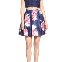 Sequin Hearts Floral Print Lace Two-Piece Dress | Nordstrom