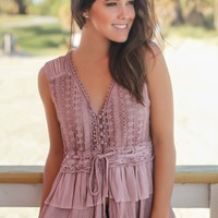 Pink Crochet Top with Ruffles