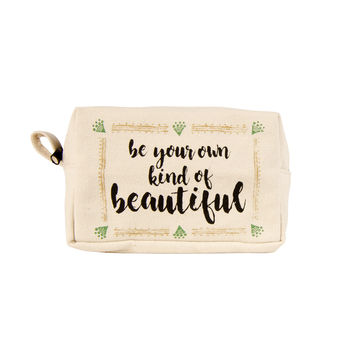 Be Your Own Kind of Beautiful Tasseled Pouch