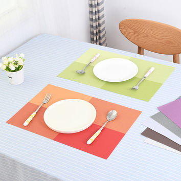 Quality Home Place Mat Fashion PVC Dining Table Mat Bowl Pad Coasters Waterproof Non-Slip Placemat