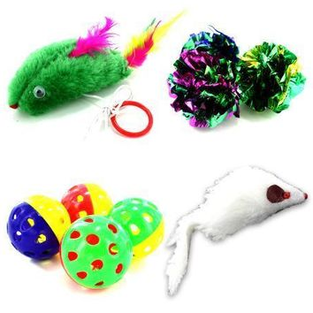 Various Stylish Shaped Cat Toy Assortment Set of 24 Pack