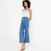 Emmett Wide-Leg Crop Jeans in Rosalie Wash : shopmadewell pants | Madewell