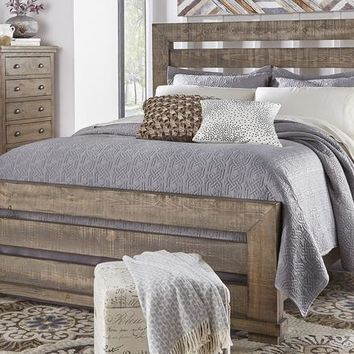 Willow Casual Queen 5/0 - 6/6 Bed Rails Weathered Gray