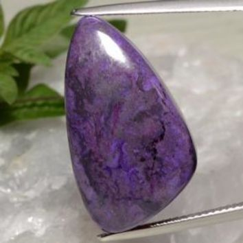 22.85 ct  Shark Fin Cabochon Multicolor Sugilite 26.1 x 14.9 mm