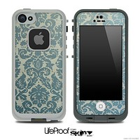 Subtle Green Lace Pattern Skin for the iPhone 5 or 4/4s LifeProof Case