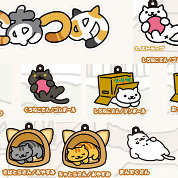 Strapya World : Neko Atsume 3WAY Strap and Charm Accessory (Complete Set / 10 Cats)