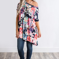 Samantha X Back Tunic Top (Floral)