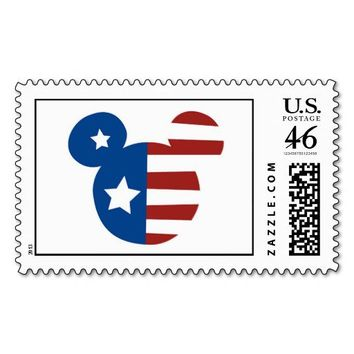 Patriotic Mickey Mouse Stamp from Zazzle.com