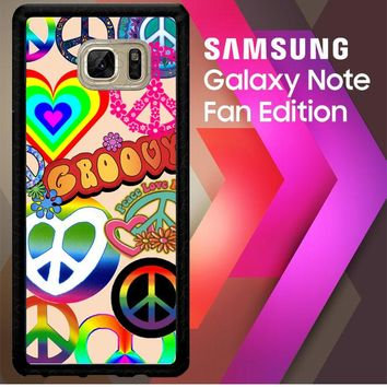 60S Peace Sign D0034 Samsung Galaxy Note FE Fan Edition Case