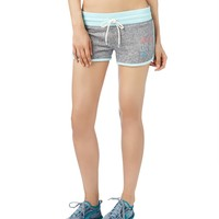 Live Love Dream Womens LLD 97 Knit Shorty Shorts - Blue,