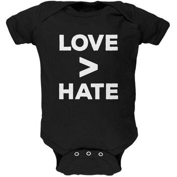 CUPUPWL Activist Love is Greater Than Hate Soft Baby One Piece