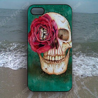 Flowers skull colorful skull Phone case,Samsung Galaxy S5/S4/S3,iPhone 4/4S case,iPhone 5 case,iPhone 5S case,iPhone 5C case,B163