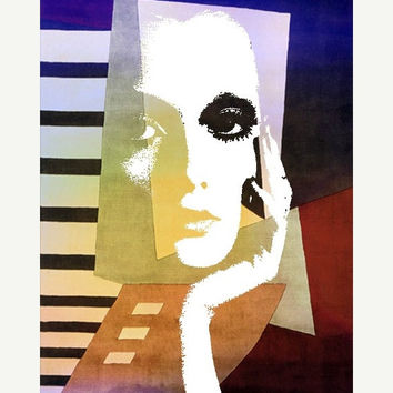 ON SALE Fine Art Print, Giclee Archival Print, Photomontage, Collage, Painted Photographs, Homage to Picasso    fine art giclee print