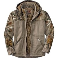 Legendary Whitetails Canvas Cross Trail Realtree Camo Workwear Jacket Stone w/ Realtree Large Tall