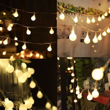 Warm White String Light 100 Pcs 33 Feet Fairy Long String Hanging Led Bulb Starry Lights for Room Garden Backyard Party Christmas Indoor and Outdoor Decor