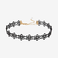 floral lace choker necklace
