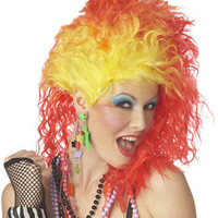 Orange Wig - True Colors - Womens Halloween Wigs and Costumes