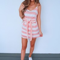 Sunshine Kisses Dress: Peach/Ivory