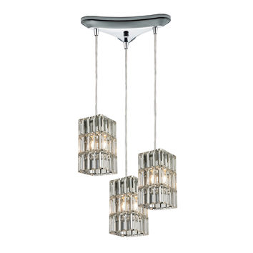 ELK Cynthia Collection 3 light chandelier in Polished Chrome - 31488/3