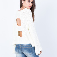 Chunky Cut Out Sweater