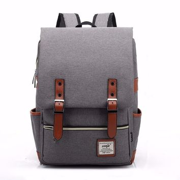 OLGITUM Bags 2017 Canvas Casual Vintage Large Capacity Travel Bag Hipster Laptop Computer Rucksack Package Men Daily Backpacks