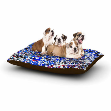 "Bruce Stanfield ""Heiveilea In Blue"" Balck Modern Dog Bed"