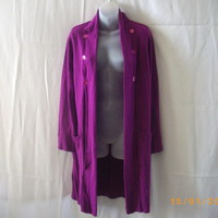 Per Una size 14 long line acrylic magenta cardigan - Sweaters