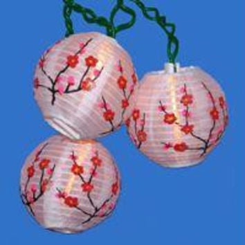 Novelty Christmas Lights - Quantity Of 4 - 10 Bulbs On Green Wire