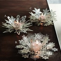 Roost silver snowflake tealight holders