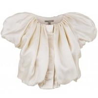 Nocturne Cropped puff sleeve top/jacket - Jackets & Coat from Tara Lacey UK