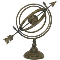 Antique Brown Metal Globe Table Decor | Shop Hobby Lobby